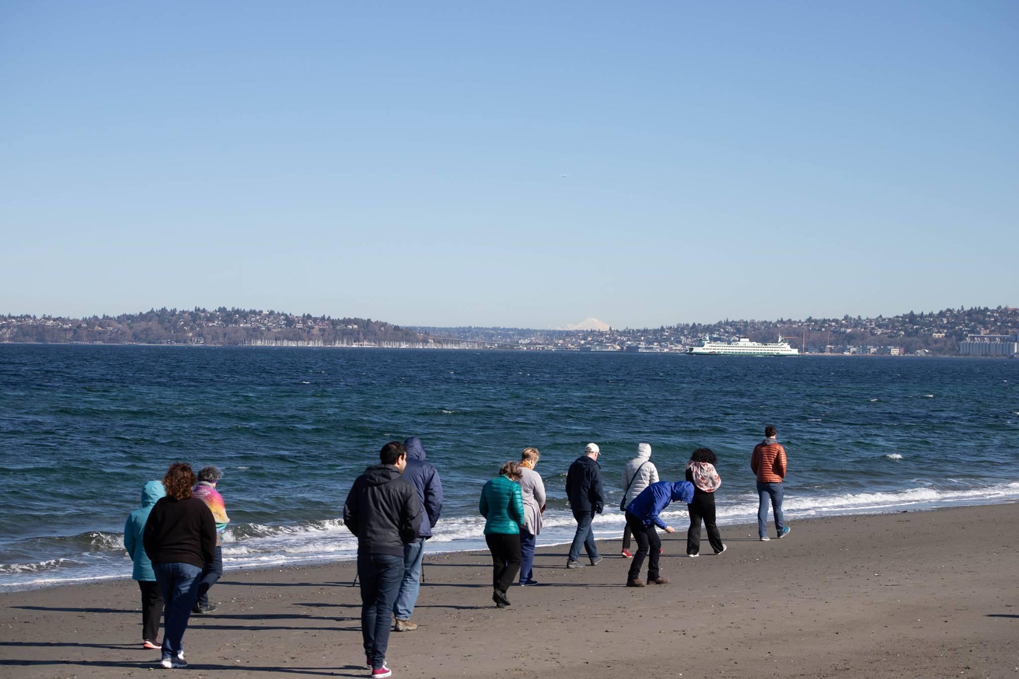 walking Alki Point, Seattle with Matthew Whitney